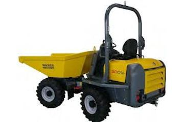 Hydrostatic swivel dumper capacity 3000kg (approx 1785mm wide).