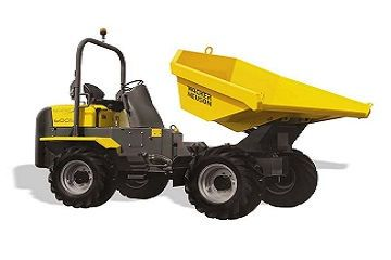 Hydrostatic swivel dumper capacity 6000kg (approx 2250mm wide).
