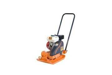 Petrol powered compactor vibrating plate (various sizes available from 300mm to 500mm).