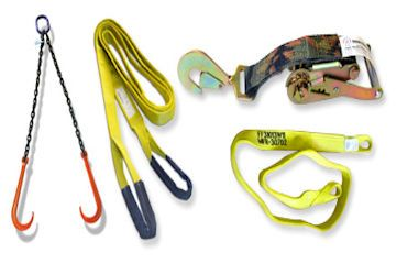 We keep a good selection of Lifting Slings,Shackles and Ratchet Straps.
